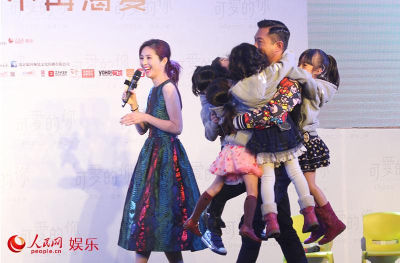 3月16日下午,《可爱的你》监制陈木胜,导演关信辉和主演杨千嬅,古天乐