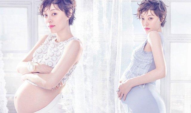 孙俪晒两次怀孕胖瘦对比照:只有想不到,没有做不到