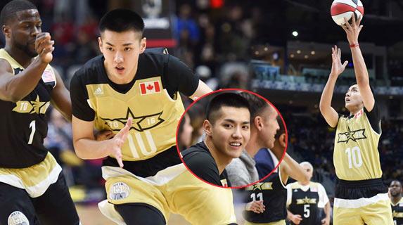 吴亦凡搭麦蒂成NBA名人赛首发球员 上篮帅气夺分引围观
