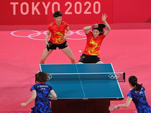 东京奥运会乒乓球女团:中国队3:0胜日本队实现四连冠
