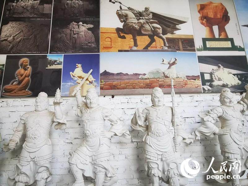 杜永卫美术馆陈列内景。人民网记者 赵光霞摄