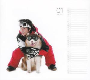 宠物狗,每个月份上李俊基都以不同鬼马造型与不同品种可爱小狗的合照.