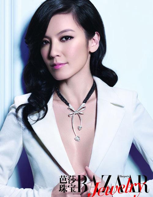 林熙蕾登杂志封面 美丽黑天鹅展露优雅之姿