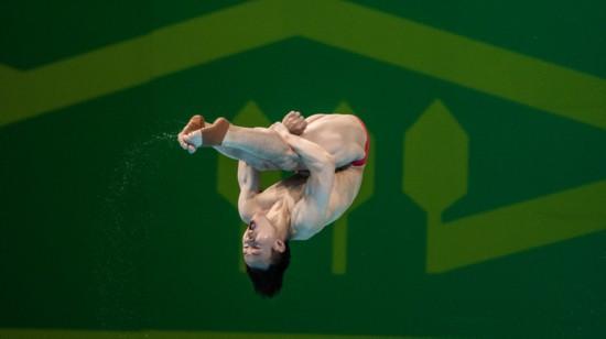 全运会 广东选手谢思埸夺得跳水男子3米板冠军
